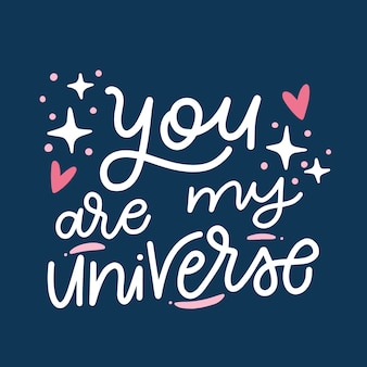 Walentynki romantyczny napis na ciemnym tle