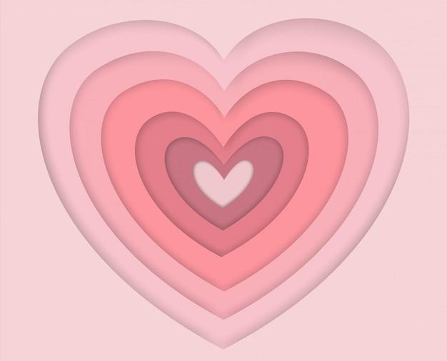 Walentynki różowy w kształcie serca