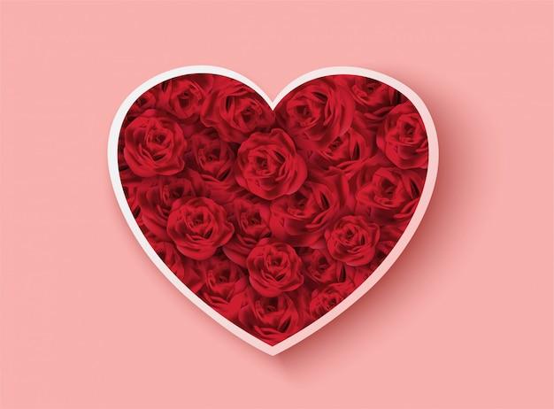 Walentynki różowy z różą