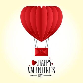 Walentynki serce balon tła