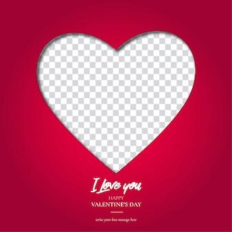 Walentynki serce tło