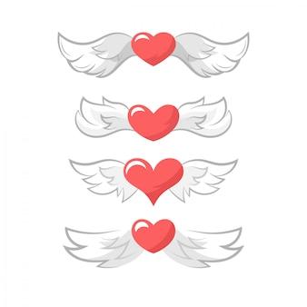 Walentynki skrzydła serca