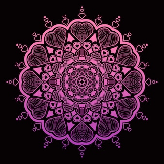Walentynki specjalne luksusowe mandali tło islamskie