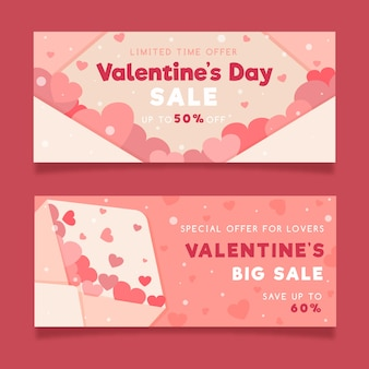 Walentynki sprzedaż banery płaska konstrukcja