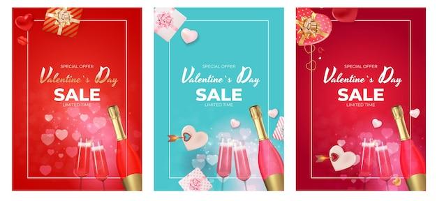 Walentynki sprzedaż szablon