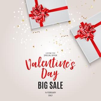 Walentynki sprzedaż tło miłości i uczuć.