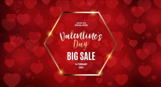 Walentynki sprzedaż tło projektu miłości i uczuć.