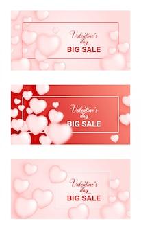 Walentynki sprzedaż tło z sercem