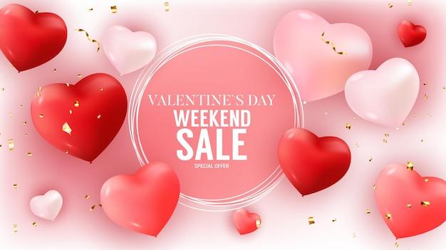 Walentynki sprzedaż transparent tło
