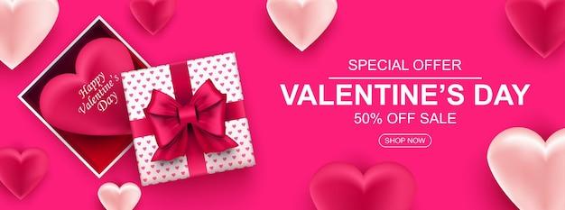 Walentynki sprzedaż transparent