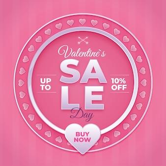 Walentynki sprzedaż z sercami