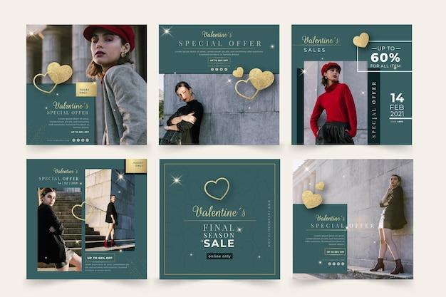 Walentynki sprzedażowe posty na instagramie