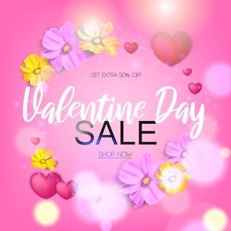 Walentynki sprzedaży tło