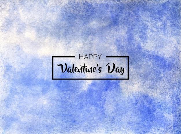 Walentynki streszczenie akwarela ręcznie malowane tekstury tła