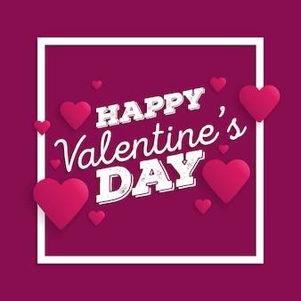 Walentynki streszczenie transparent z cięcia papieru serca.