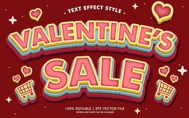 Walentynki styl efektów sprzedaży