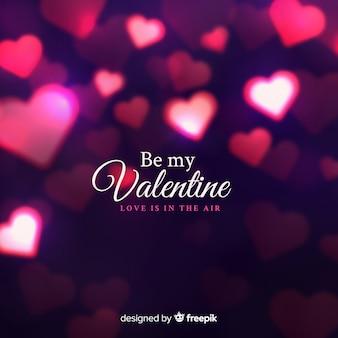 Walentynki świecące serca tło