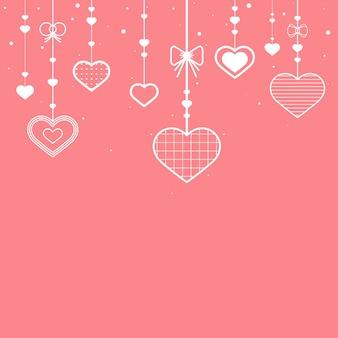 Walentynki tła ilustracja