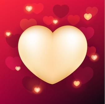Walentynki tło z realistycznym sercem