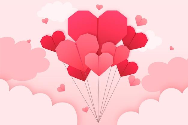 Walentynki tapety w stylu papieru