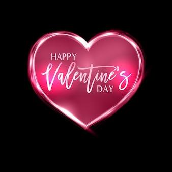 Walentynki tle z neon serca