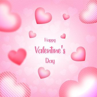 Walentynki tło lub baner z sercami różowe tło
