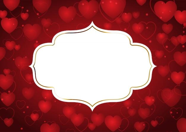 Walentynki tło z ozdobną ramą