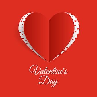 Walentynki tło z papierowym sercem