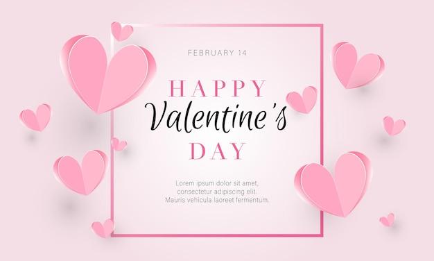 Walentynki tło z papieru różowe serca