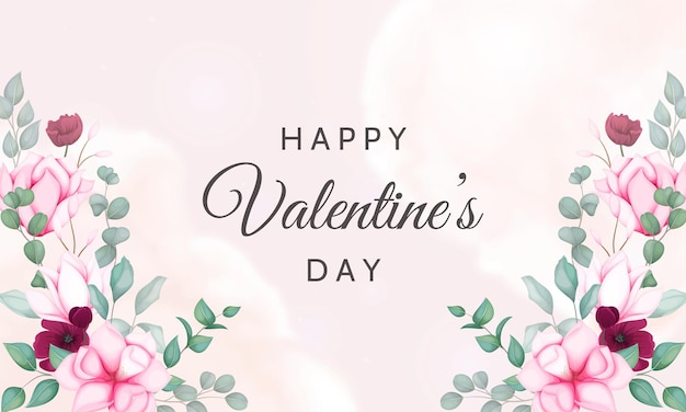 Walentynki tło z pięknym kwiatowym