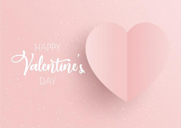 Walentynki tło z różowym sercem