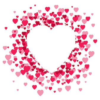 Walentynki tło z sercem.