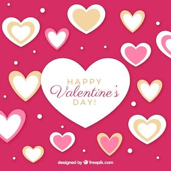 Walentynki tło z wiele sercami