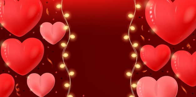 Walentynki transparent tło