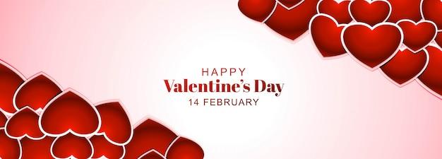 Walentynki transparent z serca