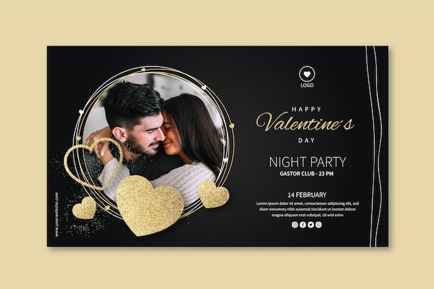 Walentynki transparent ze zdjęciem