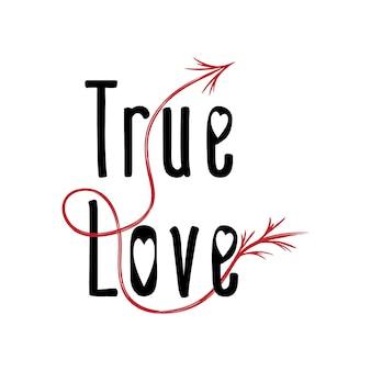 Walentynki true love tekst ze strzałką
