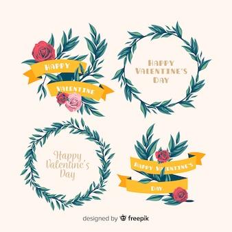 Walentynki wieńce i bukiety kwiatowe