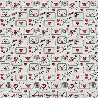 Walentynki wzór litery