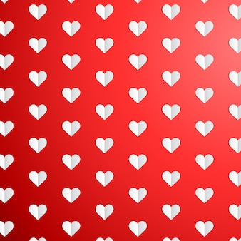 Walentynki wzór polka dot z papieru serca