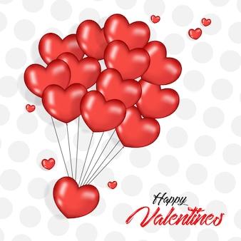 Walentynki z 3d realistyczne balony serca
