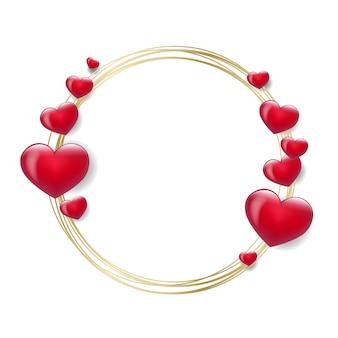 Walentynki z czerwonymi sercami