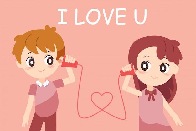 Walentynki z para zakochanych
