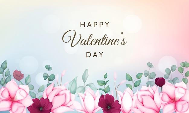 Walentynki z pięknym kwiatowym