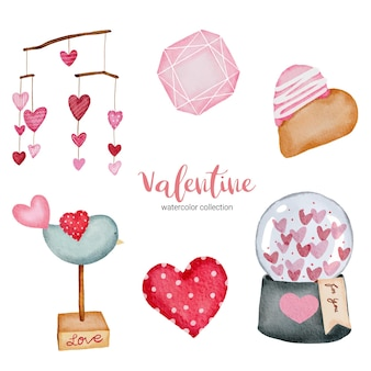 Walentynki zestaw elementów serca, słoika i nie tylko.