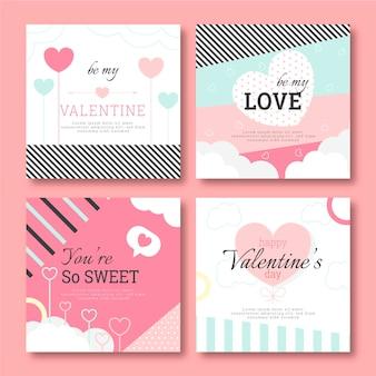 Walentynki zestaw postów na instagramie