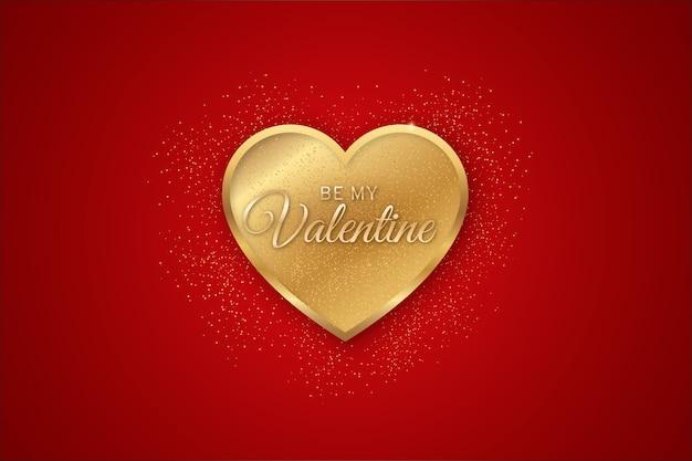 Walentynki złote tło