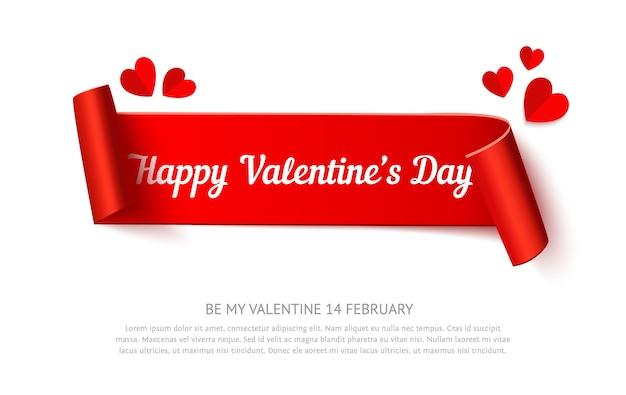 Walentynki zwijanie papieru wstążka transparent
