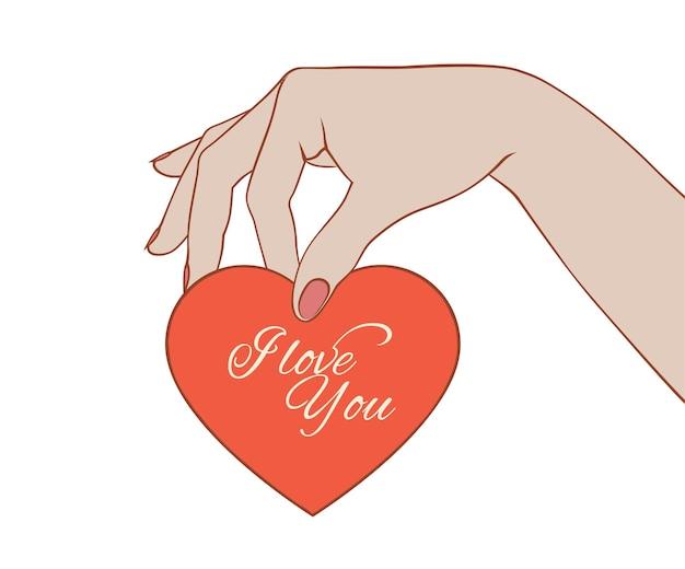 Walentynkowa karta w kobiecej dłoni