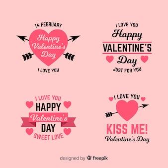 Walentynkowa kolekcja etykiet i cytatów